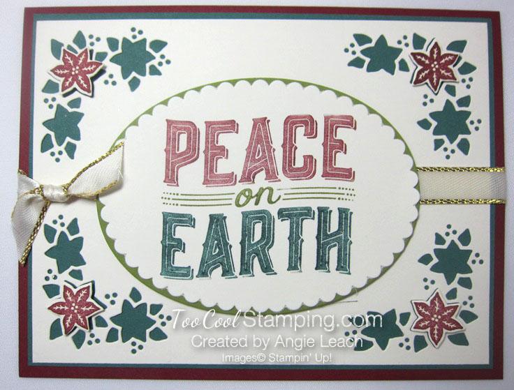 Carols of Christmas Poinsettias - peace markers