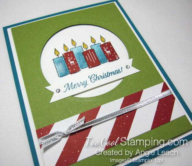 Paper pieced candles - indigo & olive 2
