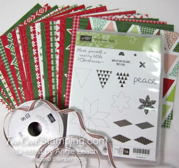 Christmas Quilt kit contents