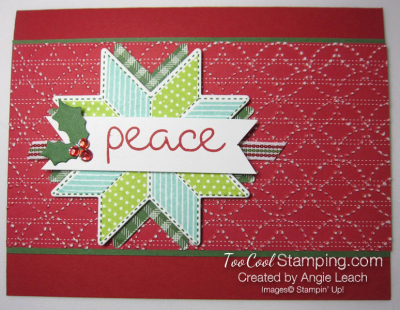 Christmas Quilt Textured Peace - redh 1