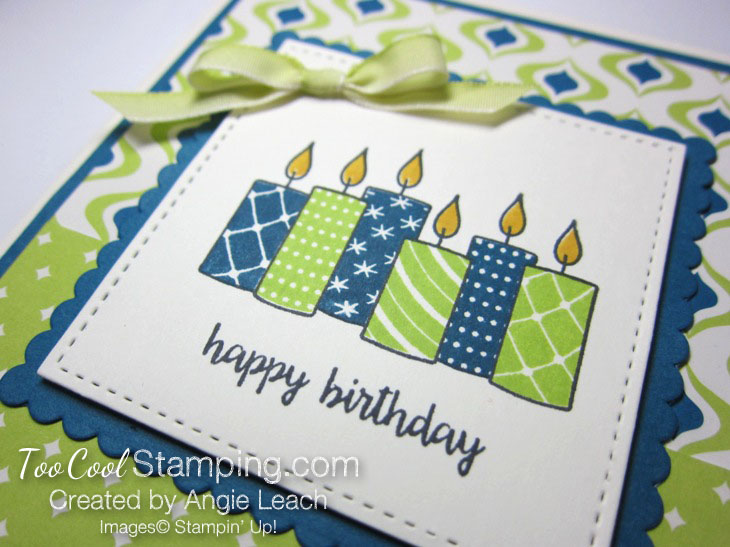 Merry patterns happy birthday - lime 3