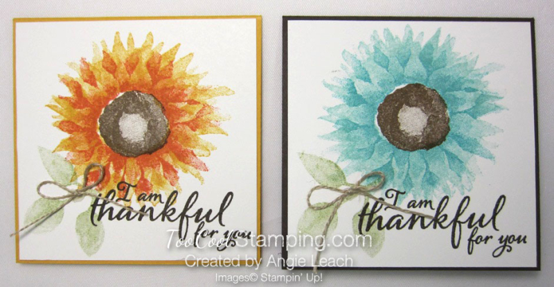 Painted Harvest Pizza Box Note Cards - two cool
