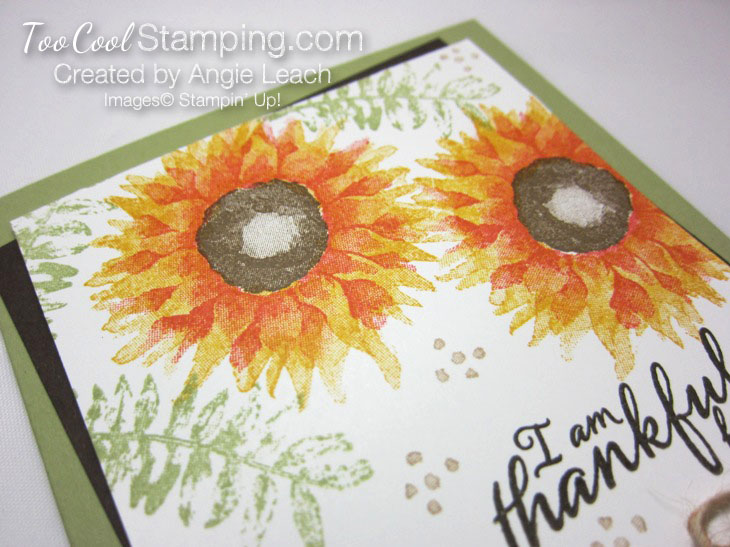 Painted harvest thankful cards - yellow 3