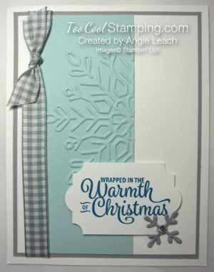 Snowflake sentiments warmth of christmas card - soft sky