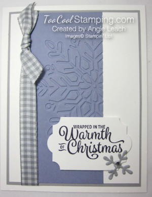 Snowflake sentiments warmth of christmas card - wisteria wonder