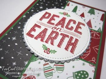 Jackie - Peace on Earth red & green 2