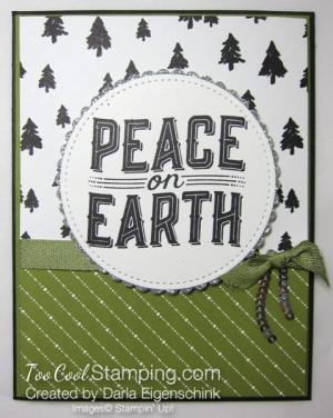 Darla - Peace on Earth olive & black