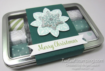 2017 Nugget Tins Snowflakes - tranquil tide