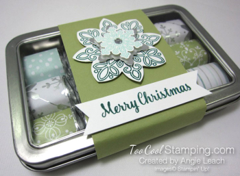 2017 Nugget Tins Snowflakes - pear pizzazz