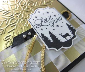 Year of Cheer Metallic Snowflakes - gold 4