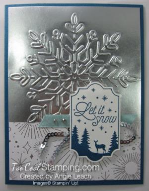 Year of Cheer Metallic Snowflakes - silver