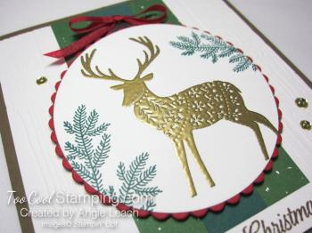 Merry patterns christmas reindeer - green & gold 2