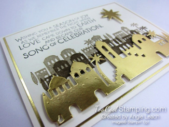 Night in bethlehem elegant foils - gold 2.5