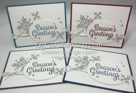 Snowflake Sentiments Seasons Greetings - 4 cool