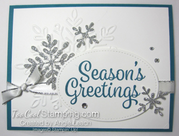 Snowflake Sentiments Seasons Greetings - indigo