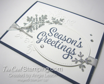 Snowflake Sentiments Seasons Greetings - navy