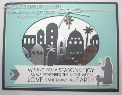 Night in bethlehem Season of Joy Oval - gray