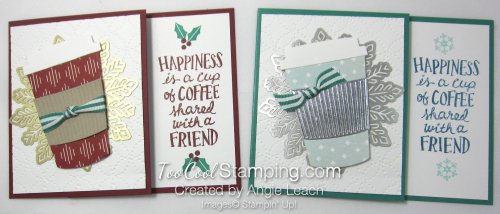 Holiday coffee cafe gift card holder - two cool