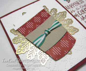 Holiday coffee cafe gift card holder - cherry 3