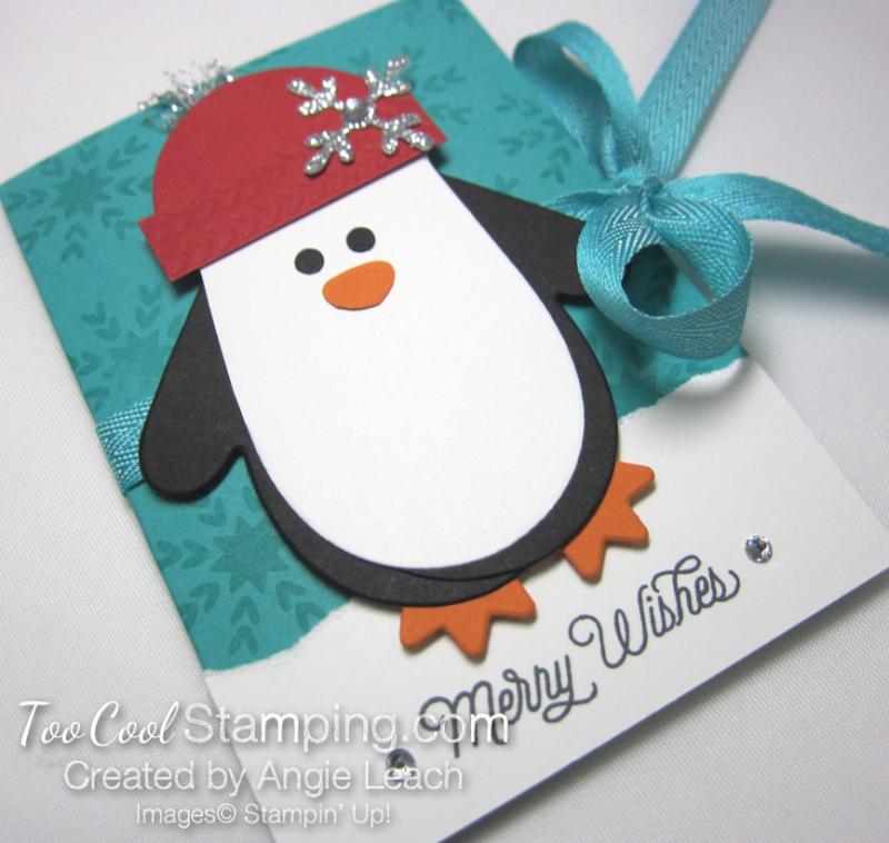 Many mittens penguin gift card holder - bermuda 2
