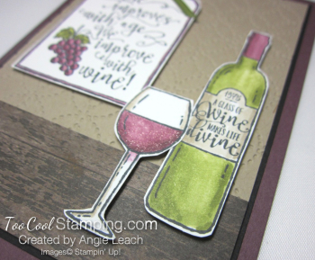 Half full wine improves with age bar - red 2