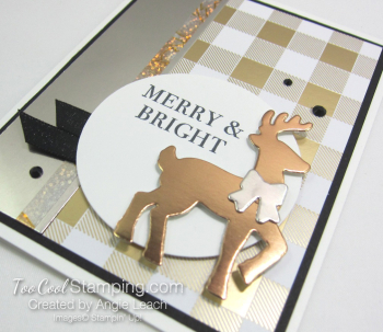 All year year mixed metal reindeer - gold 3