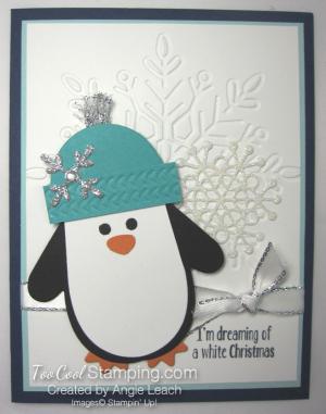 Many Mittens white Christmas - navy
