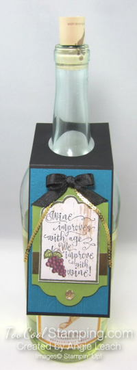 Half full wine tags - indigo bottle