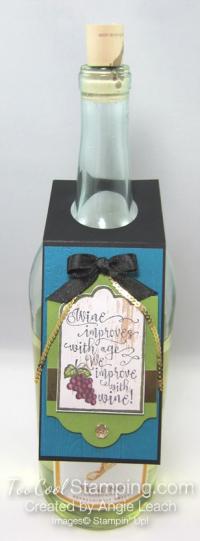 Half full wine tags - indigo bottle