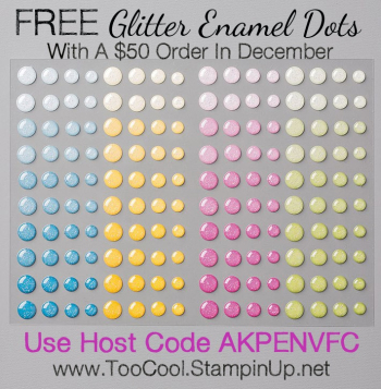 Thank you glitter enamel dots - banner