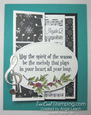 Musical season pull out panel card - bermuda