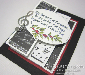 Musical season pull out panel card - black 3