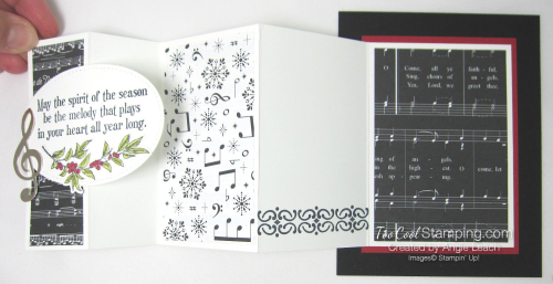 Musical season pull out panel card - black 2