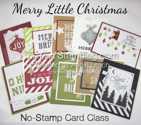 Merry Little Christmas No Stamp Card Class - Banner