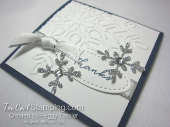 Navy tags - swirly snowflakes 2