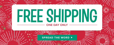 FREE Shipping one day only