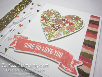 Heart happiness floral heart - love you 3