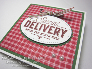 Special Delivery Corner Pop-Up Card - red 2