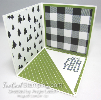 Special Delivery Corner Pop-Up Card - olive 2