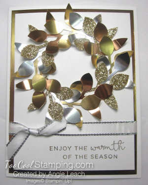 Metallic leaf wreath 1