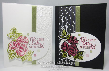 Petal palette emboss resist - two cool