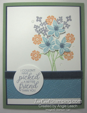 Beautiful Bouquet Quilt Top - wild wasabi