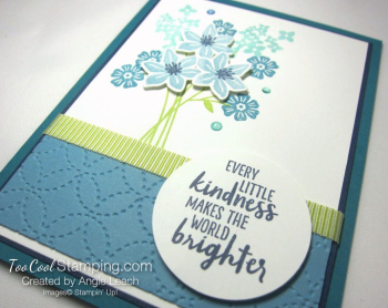 Beautiful Bouquet Quilt Top - island indigo 2