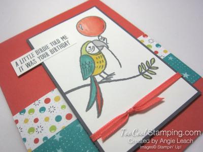 Bird Banter Birthday Balloon - coral 2