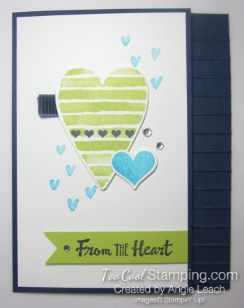 Heart Happiness From The Heart - navy