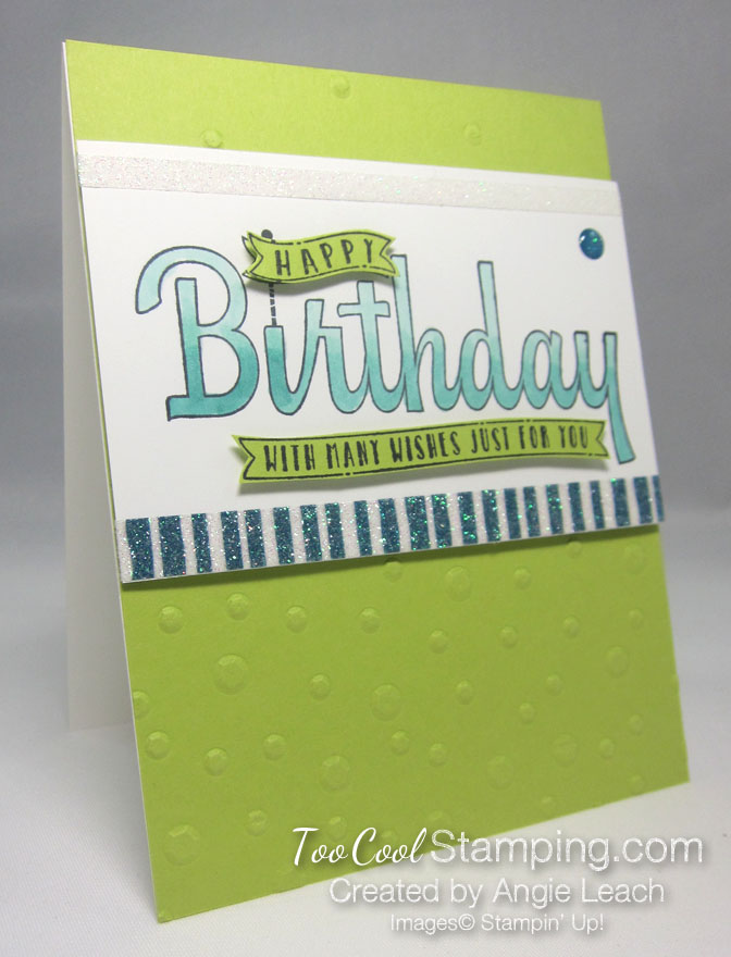 Birthday wishes for you sequins - lime
