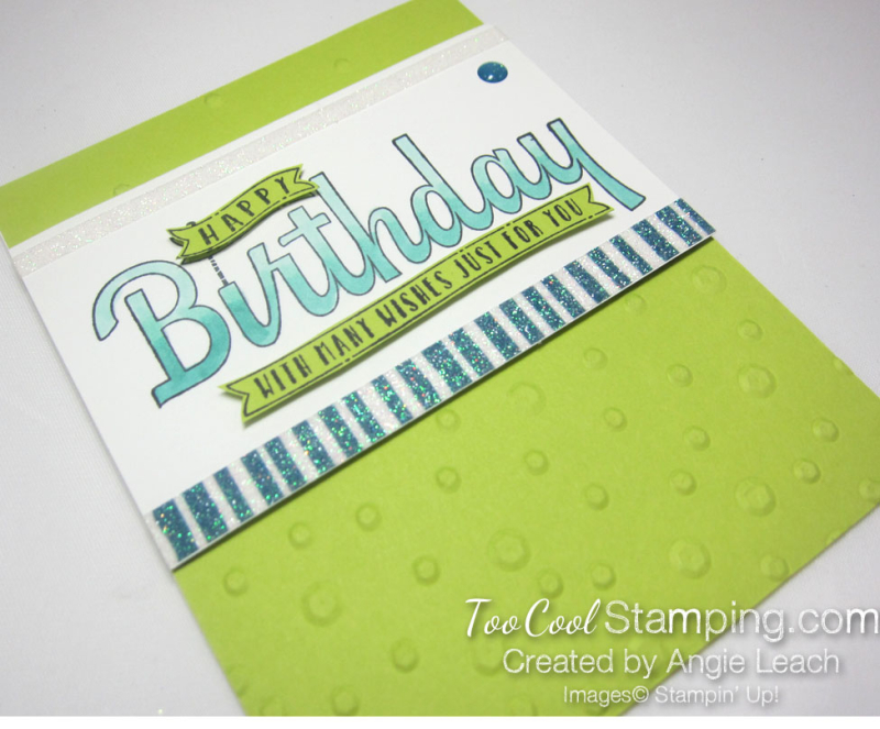 Birthday wishes for you sequins - lime 2