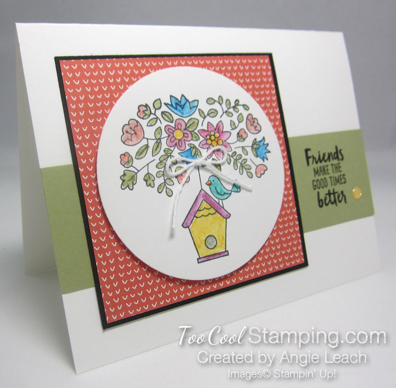 Flying Home Watercolor Bird House - coral