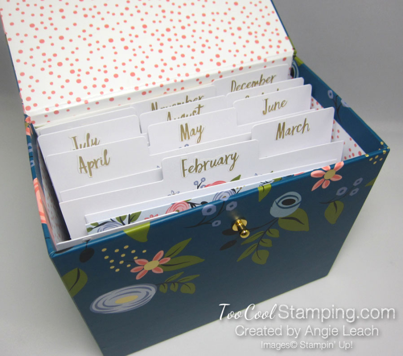 Perennial birthday box with inserts