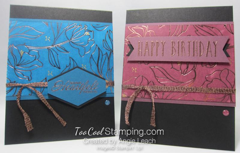 Springtime foils inked - two cool